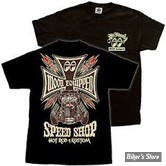 TEE-SHIRT - MOON - MOON EQUIPPED SPEED SHOP - COULEUR : NOIR - TAILLE 6 / XXL