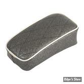 SELLE LE PERA - SOLO - METALFLAKE - CHARCOAL SPARKLE DIAMOND - BIAIS BLANC : POUF