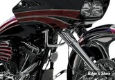 BARRE DE SUPPORT DE CARÉNAGE - FLTR/X 10/13 - PAUL YAFFE'S BAGGER NATION - ENGINE GUARD ELIMINATOR - CHROME