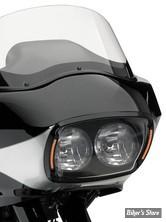 ROAD GLIDE - CERCLAGE DE PHARE TOURING FLTR - CYCLES VISIONS - VITRE : FUME - ENTOURAGE : NOIR