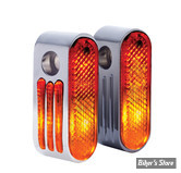 Clignos Marker Lights - Ajoures - 5/16 - Chrome - double
