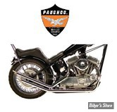 Echappement Paughco Upswept Drag Pipes - Slash Cut - XLH86/03 rigide
