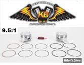 Kit pistons Keith Black (KB) - BigTwin Evolution 84/99 1340cc - 9.5:1 - +0.020
