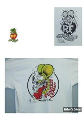 TEE-SHIRT - RAT FINK - FEARLESS LEADER - COULEUR : BLANC - TAILLE 6 / XL