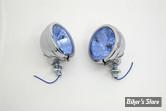 4 1/2 / Phares additionnels FL style - 68652-64 - Optique bleu - La Paire