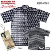 CHEMISE - MOON - REYN SPOONER / MOON EQUIPPED - 20TH ANNIVERSARY - COULEUR : NOIR - TAILLE 6 / XXL