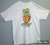 TEE-SHIRT - RAT FINK - BROTHER RAT ORIGINAL - COULEUR : BLANC - TAILLE 4 / L