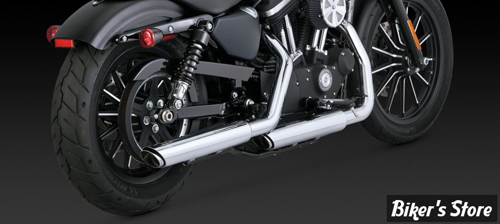 Silencieux Vance & Hines Twin Slash - Sportster 2014up - chrome
