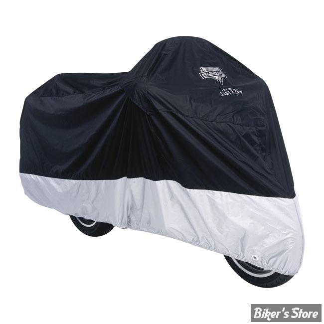 Housse moto nelson riggs mc 904 deluxe noir gris for Housse moto custom