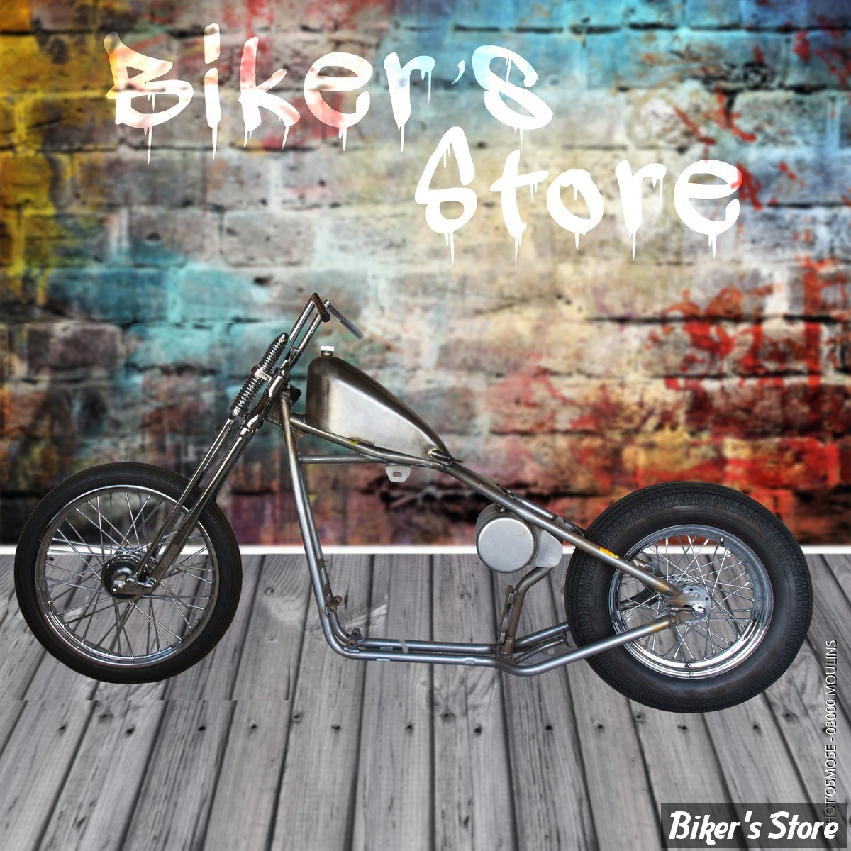 PARTIE CYCLE - SPORTSTER 86/03 - BIKER'S STORE - BOBBER RIGIDE - FOURCHE SPRINGER