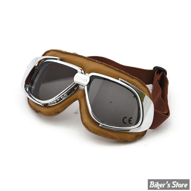 lunettes moto bandit verres fumes couleur marron imitation cuir biker 39 s store. Black Bedroom Furniture Sets. Home Design Ideas