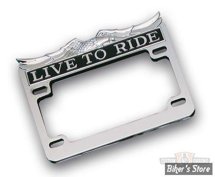 entourage de plaque chrom live to ride format us x 10cm biker 39 s store. Black Bedroom Furniture Sets. Home Design Ideas