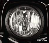 "7 - CERCLAGE DE PHARE EXTERNE - ROLAND SANDS DESIGN RSD - TRACKER 7"" FL HEADLAMP TRIM RING - TRACKER - BLACK OPS"