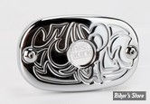 COUVERCLE M/CYL ARRIERE - SOFTAIL 06UP / TOURING 05/07 - 46457-05B - ARLEN NESS - ENGRAVED - Chrome