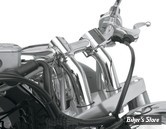 RISERS BARON CUSTOM ACCESSORIES - KICKBACK - CHROME