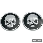 BOUCHON 96UP - DRAG SPECIALTIES - Skull - La paire