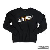 SWEAT SHIRT - BILTWELL - BOLTS CREW NECK - COULEUR : NOIR