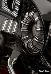 GRILLES DE HAUT PARLEUR AVANT - TOURING 14UP - ARLEN NESS - 10-Gauge Forged Billet Speaker Grill - 10-GAUGES - NOIR - 03-906
