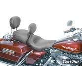 SELLE MUSTANG - WIDE SOLO SEATS AVEC DOSSIER - BLACK STUDDED SOLO SEAT - AVEC RIVETS NOIR