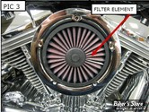 K - FILTRE A AIR KURYAKYN - UNIVERSEL - VELOCIRAPTOR : ELEMENT FILTRANT DE REMPLACEMENT - 9509