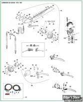 ECLATE L - PIECE N° 00 - ECLATE DES PIECES DE COMMANDE DE GUIDON - BIGTWIN 72/81 & XL 73/81