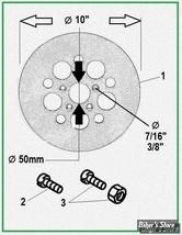 ECLATE DF - PIECE N° 00 - DISQUE DE FREIN  ET FIXATION - FL73/84, FX ET XL 73 (AV) / FL ET FX 73/80 (AR)