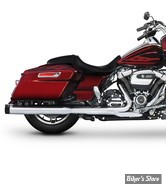 "SILENCIEUX - RINEHART RACING - TOURING 17UP - MUFFLER SLIP-ON 4"" - CHROME / EMBOUT : NOIR STANDARD - 500-0106"