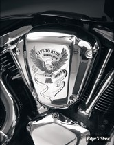 Couvre filtre a air Show Chrome USA Live to Ride / Free Spirit ABS chrome