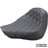 SELLE SOLO - SOFTAIL FLFB / FLFBS / FXBR / FXBRS 18UP - SADDLEMEN - Renegade Lattice Stitch Solo Seat - NOIR