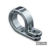 AV / KIT DE DEPLACEMENT DE CLIGNOTANTS AVANT - POUR TUBES DE FOURCHE DE 35/38MM - KURYAKYN - P-CLAMP - CHROME - 4019