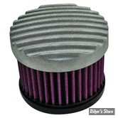 - FILTRE A AIR  TC BROS CHOPPERS -  FINNED AIR CLEANER - CARBURATEUR S&S SUPER E & G - ALU BRUT