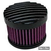 - FILTRE A AIR  TC BROS CHOPPERS - FINNED AIR CLEANER - CARBURATEUR S&S SUPER E & G - NOIR