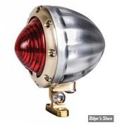 FEU ARRIERE - ALUMINIUM - VITY'S DESIGN - LED - SATIN / CERCLAGE : LAITON