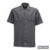 CHEMISE - DICKIES - 1574 - SHORT SLEEVE WORK SHIRT - COULEUR : CHARCOAL GREY / ANTHRACITE - TAILLE L
