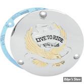 COUVERCLE D EMBRAYAGE - BIG TWIN 70/99 - LIVE TO RIDE - CHROMÉ/DORE