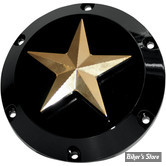 ECLATE I - PIECE N° 07 - COUVERCLE D EMBRAYAGE - SPORTSTER 04UP - NYC CHOPPERS - NAUTICAL STAR - NOIR / LAITON