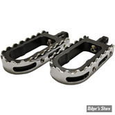 L.A CHOPPERS - REPOSE PIEDS - BMX - SUPPORT : NOIR / DENTS : CHROME
