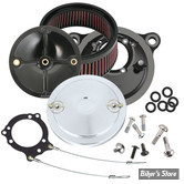 - FILTRE A AIR - S&S - STEALTH S&S SUPERSTOCK - SPORTSTER 91UP - AVEC CACHE : MUSCLE / CHROME