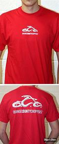 TEE-SHIRT - ORANGE COUNTY CHOPPERS - OCC - BASIC LOGO - COULEUR : ROUGE - TAILLE 4 / L