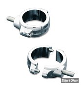 AV / KIT DE DEPLACEMENT DE CLIGNOTANTS AVANT - POUR TUBES DE FOURCHE DE 41MM - KURYAKYN - TWO-PIECE FORK MOUNTS - CHROME- 2286