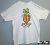TEE-SHIRT - RAT FINK - BROTHER RAT ORIGINAL - COULEUR : BLANC - TAILLE 3 / M