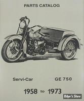 CATALOGUE DE PIECES DETACHEES - Servi-Car 45 cui/750cc 1958-1973