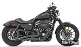 ECHAPPEMENT FREEDOM PERFORMANCE - SHARP CURVE RADIUS II - 2 EN 2 - SPORTSTER 04UP - NOIR - EMBOUT : NOIR