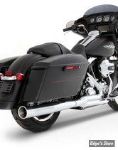 ECHAPPEMENT - RINEHART RACING - TOURING 09/16 - 2-INTO-1 EXHAUST - CHROME / EMBOUT : CHROME - 200-0100C