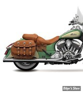"""SILENCIEUX - RINEHART RACING - INDIAN CHIEFTAIN / ROADMASTER - 4"""" - CORPS : CHROME / EMBOUT : CHROME"""