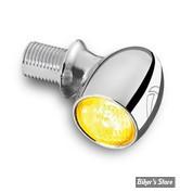 CLIGNOTANT A LEDS -   KELLERMANN - BULLET ATTO LED TURN SIGNAL - FINITION : CHROME - CABOCHON : CLAIR - LA PIECE - 152.100
