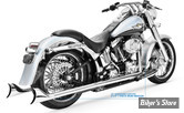 "ECHAPPEMENT FREEDOM PERFORMANCE TRUE DUAL - SHARKTAIL - 32"" - SOFTAIL 07/17 - CHROME"
