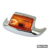 Feu de garde boue avant - 80/99 - Eclairage : Ampoule 12V - Cabochon orange