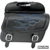 SACOCHES CAVALIERE - SADDLEMEN - HIGHWAYMAN TATTOO SADDLEBAGS - TAILLE : LARGE - COULEUR FLAMMES : BLEU