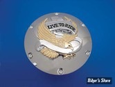ECLATE I - PIECE N° 07 - Couvercle d embrayage - SPORTSTER 04UP - LIVE TO RIDE - chrome et dore